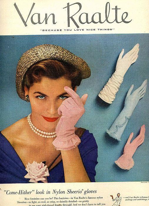 Vintage glove advertisement