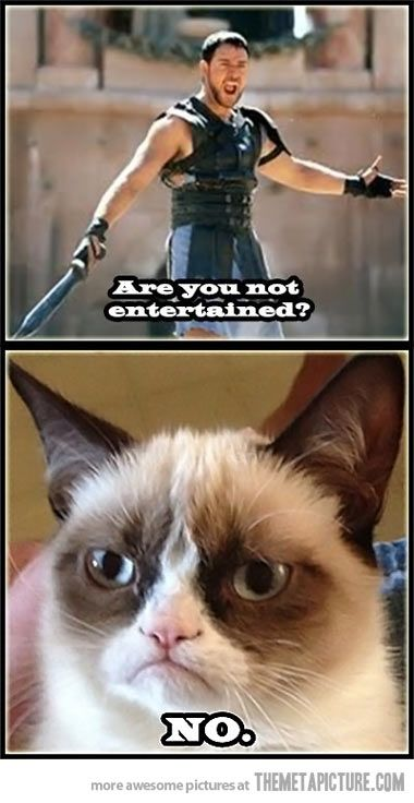 Gladiator and Grumpy Cat, two favorites. haha