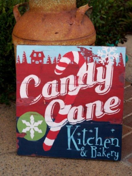 Candy Cane Kitchen Sign Tutorial