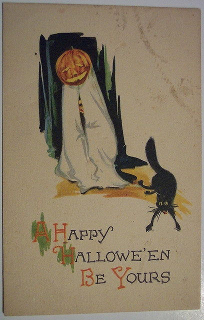 Vintage Halloween Postcard      Gibson by riptheskull, via Flickr