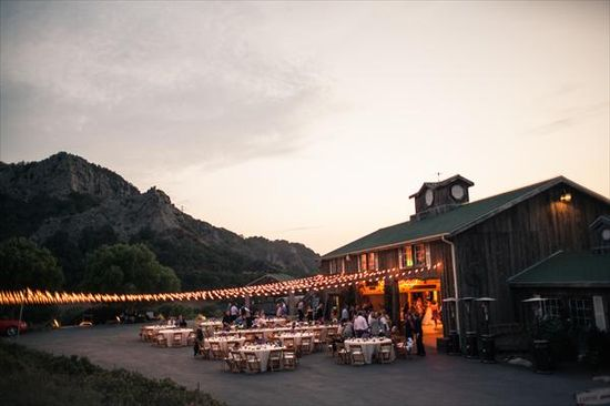 Outdoor reception space // HeyDay Photography // www.theknot.com/...