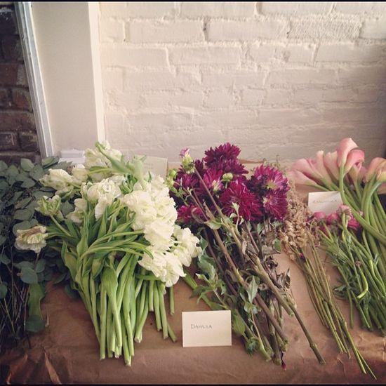 Flower arrangement class!