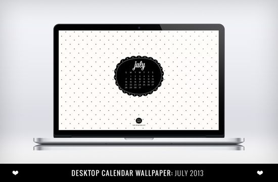 Desktop July 2013 Calendar Wallpaper by Design is Yay!