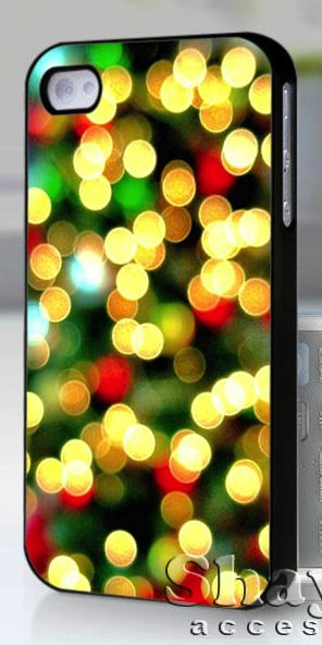 Christmas tree lights Iphone case