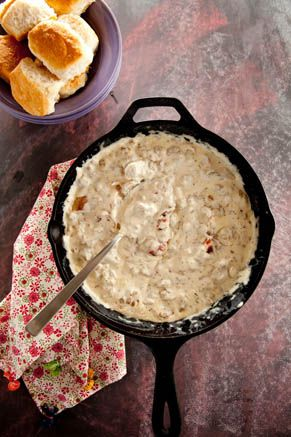 Paula Deen Sausage and Bacon Gravy
