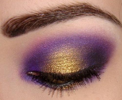 Purple and gold eyeshadow