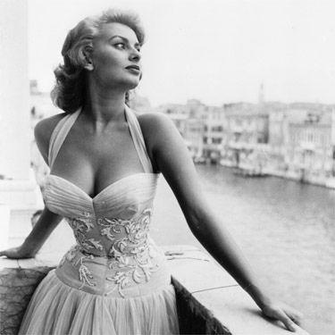 Sophia Loren #celebstylewed #bridal #nuptials #vintage #retro