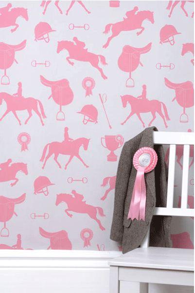 pink horse wallpaper