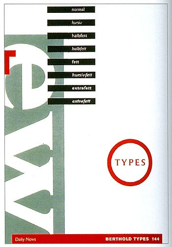 German Graphic Design via Maryellen McFadden     Designed by Eric Spiekermann/Meta Design for Berthold AG. 1988-90.