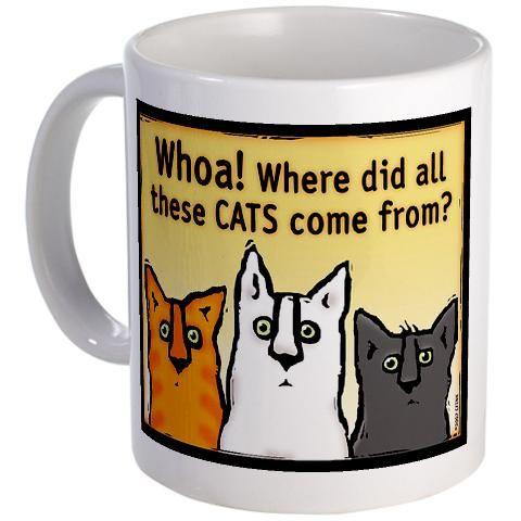 Funny Cat Coffee Mug {Cafepress-ydoV1CTI}
