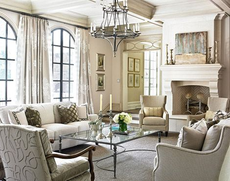 Family room, the furniture, the fireplace, the windows.....