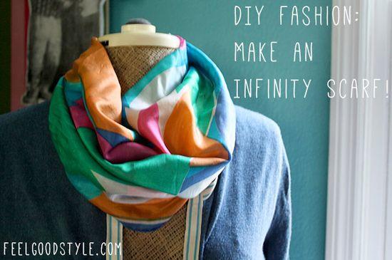DIY Fashion: Turn a Scarf into an Infinity Scarf