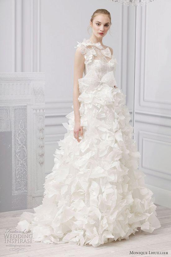 monique lhuillier spring 2013 innocence wedding dress, wedding dress, wedding gown, bridal gown, bridal dress, wedding, haute couture