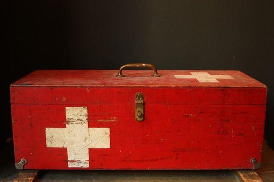 vintage first-aid box