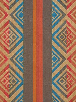 Fabricut Fabrics - Sidecar - Terracotta - Price Per Yard: $126.50 #interior #decor #aztec #African #decor #Geometric