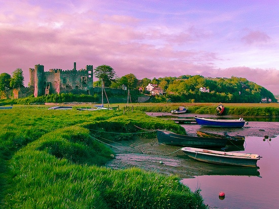 Laugharne Castle, Wales, UK