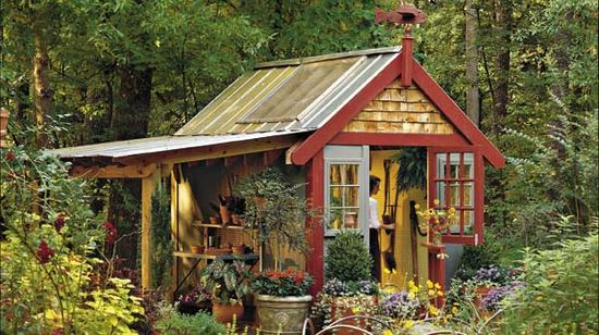 A great garden Shed With Style, so pretty, neat and very useful in the garden.......love this one!!