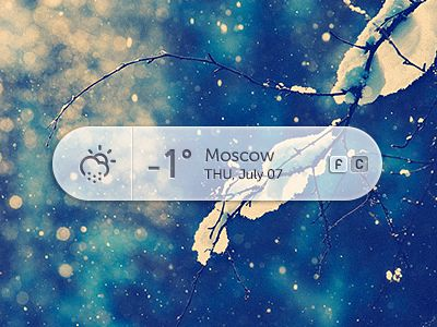 Dribbble - Weather   PSD by Andrey Maxim