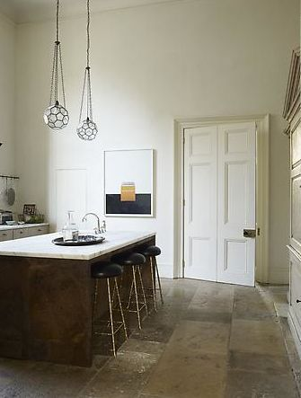 Beautiful ceiling height in Rose Uniacke's kitchen, England