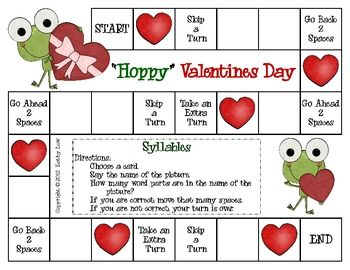 Here's a great way to practice syllables with a Valentine theme. This game can be used for literacy centers/stations, partner games, or small group...