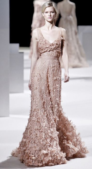 everlytrue:    { LABEL LOVE } … Covered in Petals  *Elie Saab Spring 2011 Couture Collection.