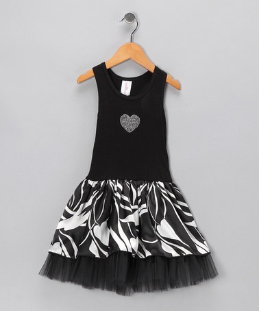 Take a look at this Black Floral Tulle Dress - Toddler & Girls  by One Love Kids on #zulily today!