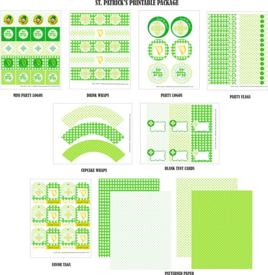 St PATRICK'S day Printable Package