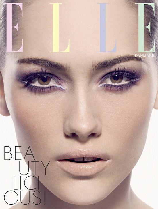 light & breezy summer makeup. Elle Cover, Denmark.