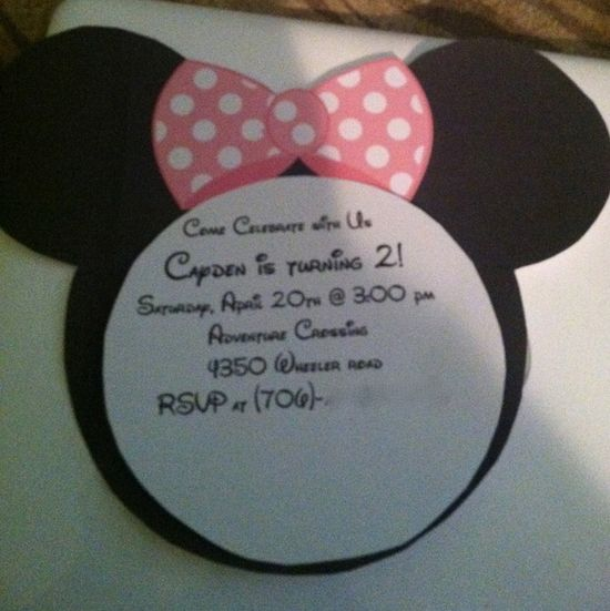 Invitation to a Minnie Mouse Party #minniemouse #partyinvite