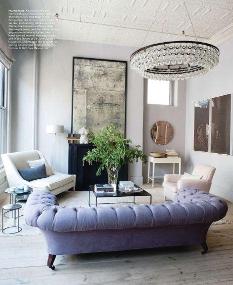 Harriet Mawell / Andrew Corrie  / Ochre / Elle Decor {loft living room} by recent settlers, via Flickr