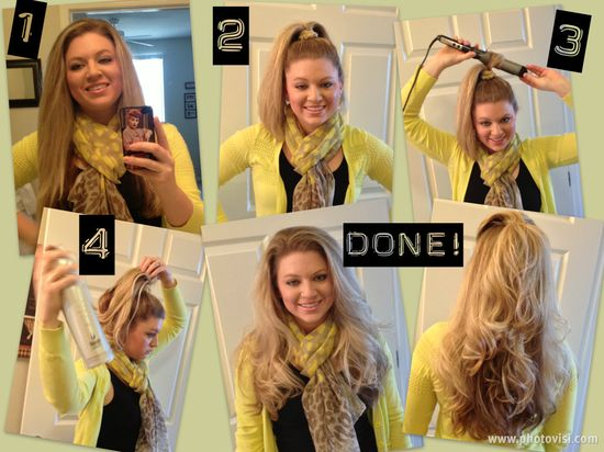 Curling Long Hair, Simple and Fast...