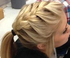 braid ponytail!!