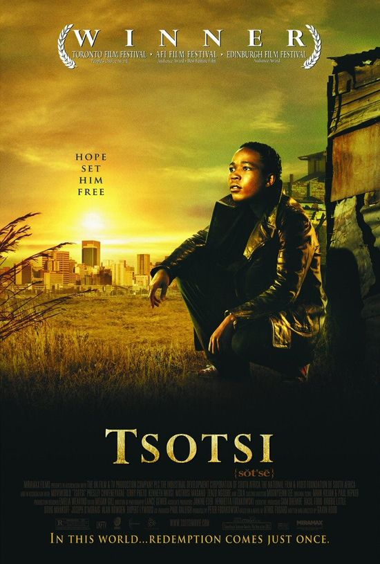 An amoral teenager develops an unexpected paternal side in this powerful drama from South Africa. Tsotsi (Presley Chweneyagae) is the street name used by a young Johannesburg delinquent who has taken to a life of crime in order to support himself.
