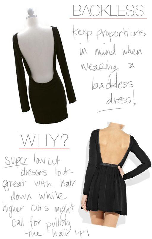 FASHION FRIDAY… The Backless Dress. -- Birthday dress ideas!