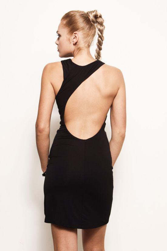 Kyla Asymmetrical Backless Dress