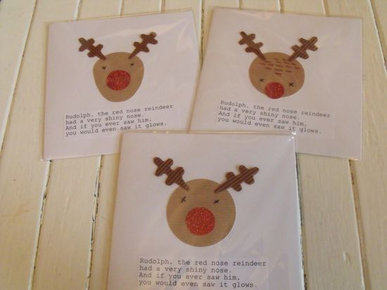 Hand made Reindeer cards