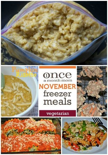 Vegetarian November 2012 Freezer Cooking Menu