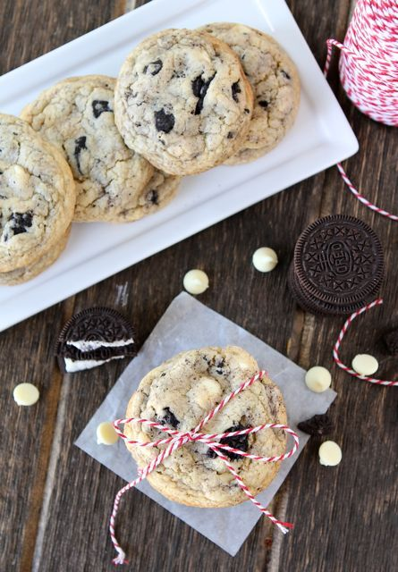 Oreo White Chocolate Pudding Cookies #cookies #recipe #oreo