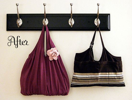 Old tank tops into cute bags