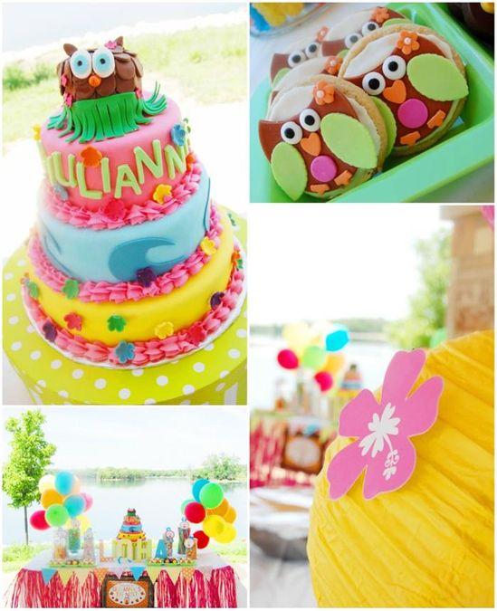 Aloha Owl 1st Birthday Party FULL of CUTE Ideas via Kara's Party Ideas
