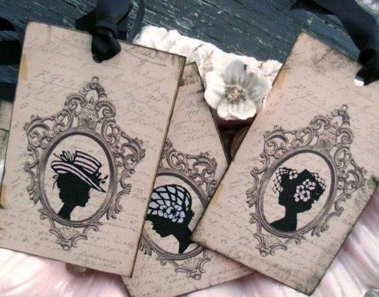 art deco gift tags