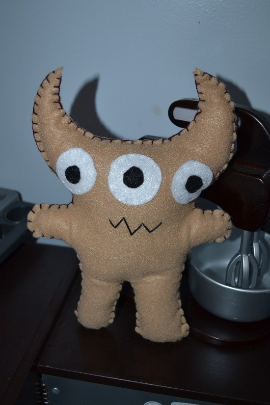 Large Tan Monster, Stuffed Animal $18