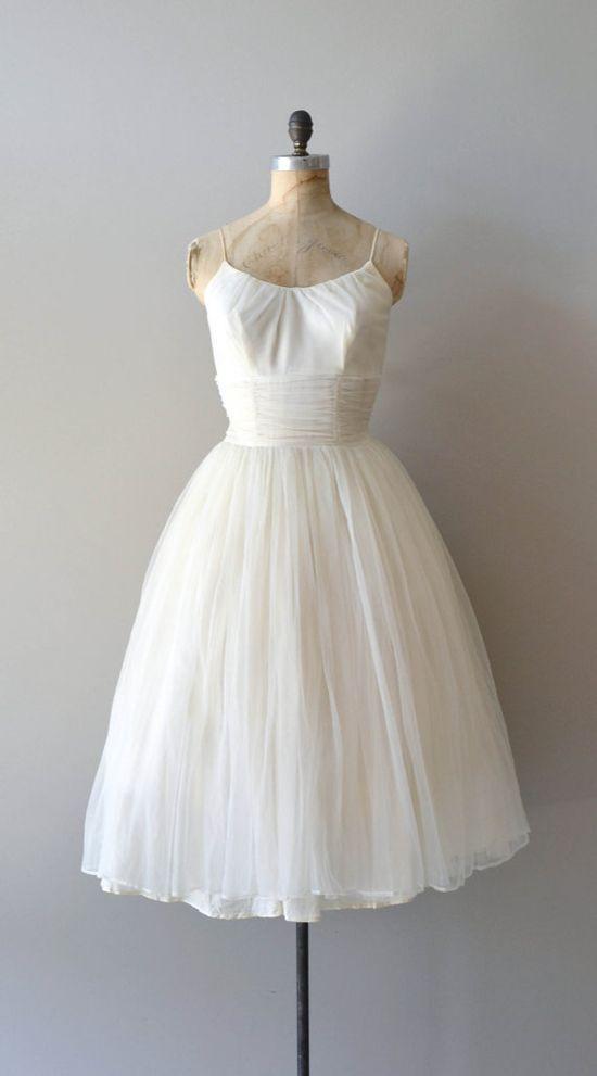 1950s wedding dress / 50s wedding dress / How High The Moon gown