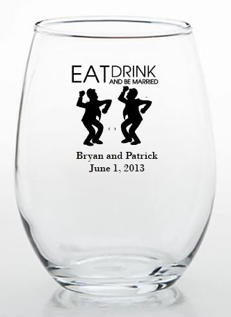 #same-sex wedding wine glasses for toasting! #gay #wedding