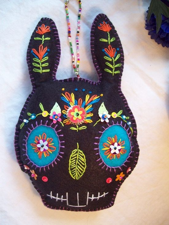 sugar skull bunny - very cool!