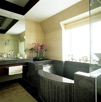 Bathroom interior decoration.