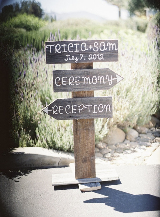 wedding signs for outside of ceremony room.