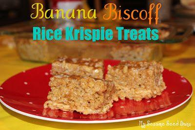 Banana Biscoff Rice Krispie Treats