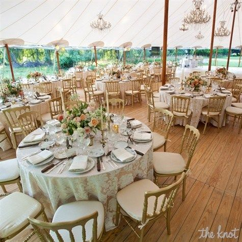 Vintage Style Tented Reception