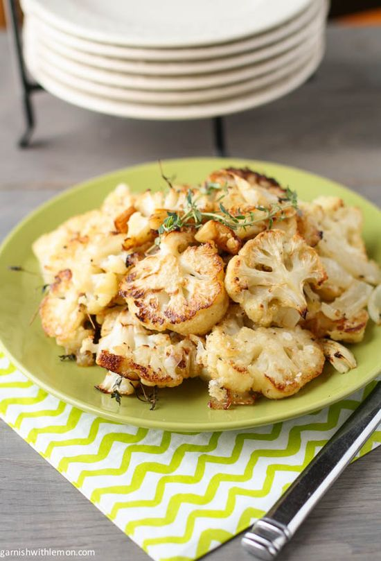 Parmesan Roasted Cauliflower by garnishwithlemon  Here is the link: www.garnishwithle... #Cauliflower #Parmesan #Healthy